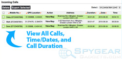 Cell Phone Recon View All Calls