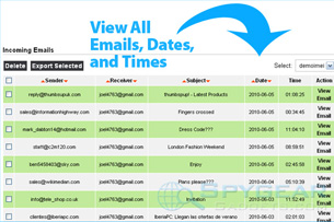 Cell Phone Recon View Emails