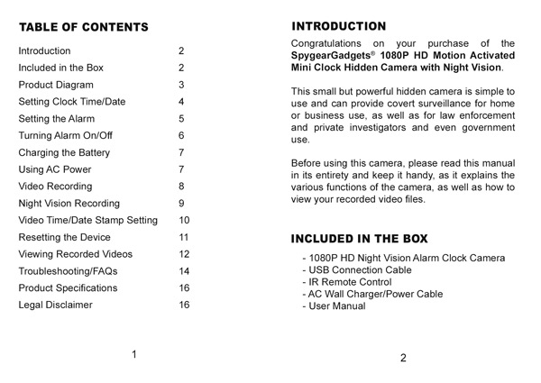 spy gear action camera instructions