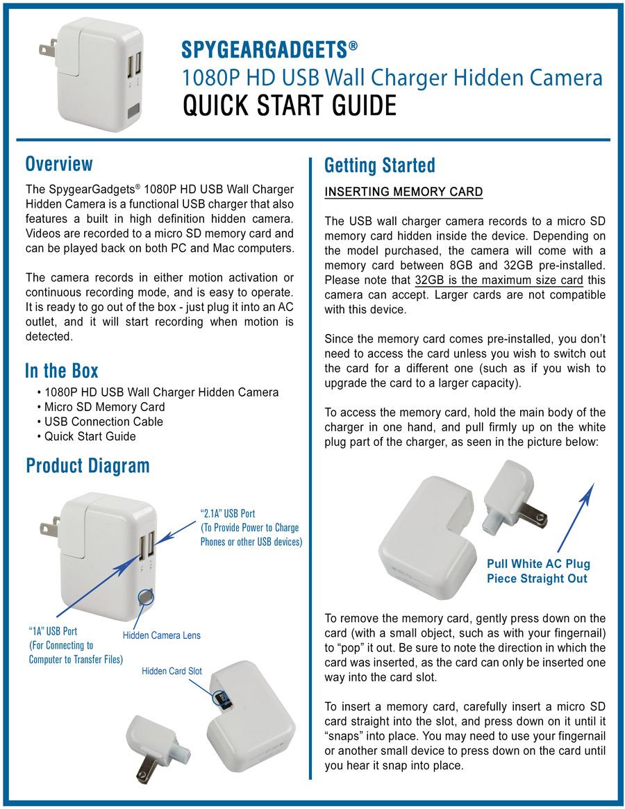 Hidden usb Camera manual