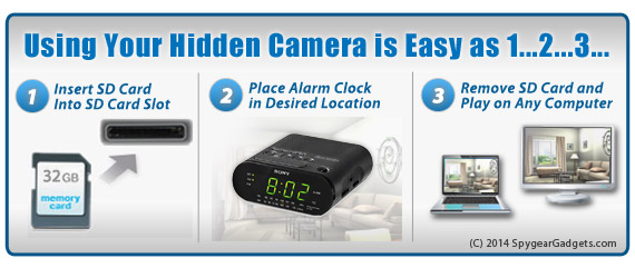 Alarm Clock Hidden Camera Setup
