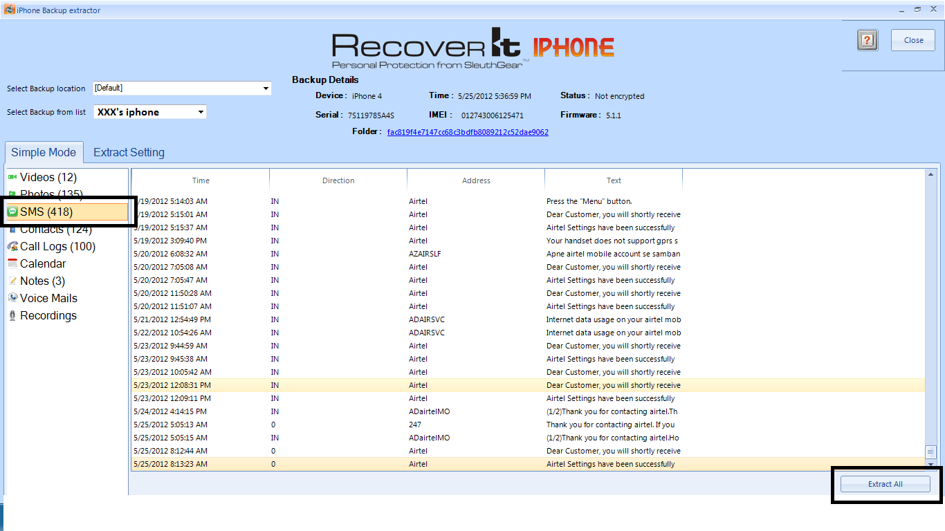 iPhone Deleted Message Recovery