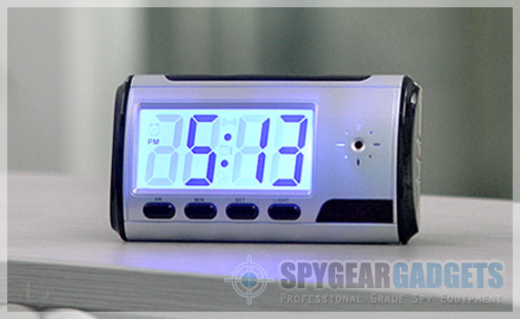 Mini Clock Camera with Motion Activation
