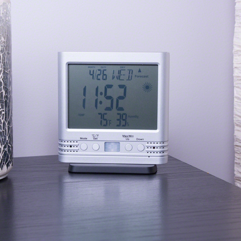 Pro Grade Desk Clock Camera on Table